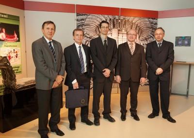 from left: Prof. dr. Milan Čerček, Simon Webster, Dr. Bostjan Koncar, Dr. Tomaž Boh, Dr. Ivan Skubic